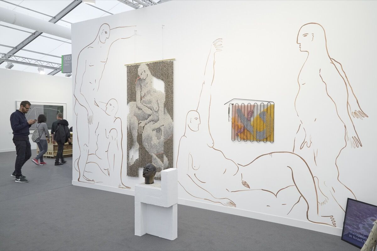 Installation view of works by Zoë Paul at The Breeder's booth at Frieze London, 2016. Photo by Benjamin Westoby for Artsy.