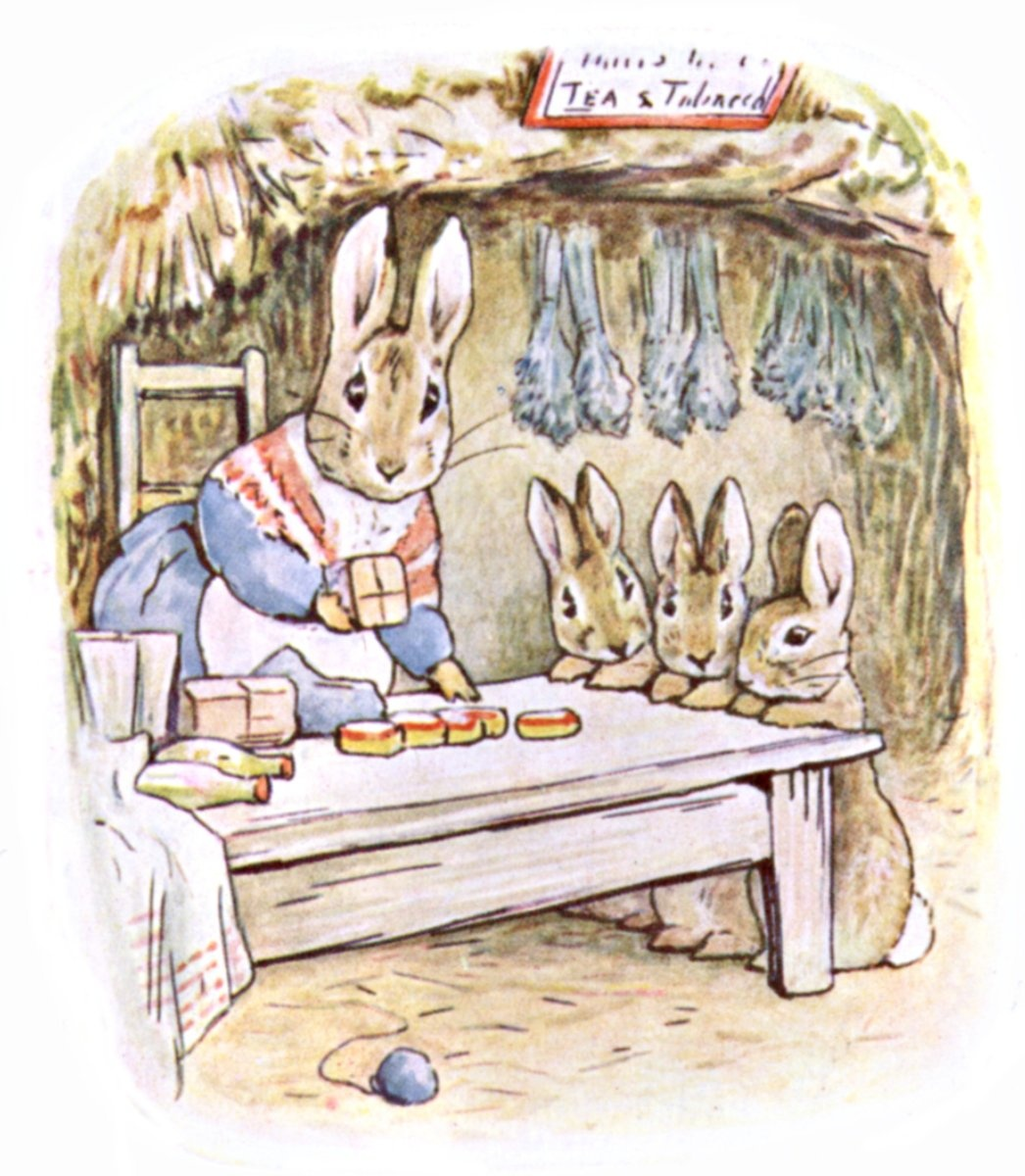 """Beatrix Potter, Illustration from """"The Tale of Peter Rabbit"""", 1901. Image via Wikimedia Commons."""