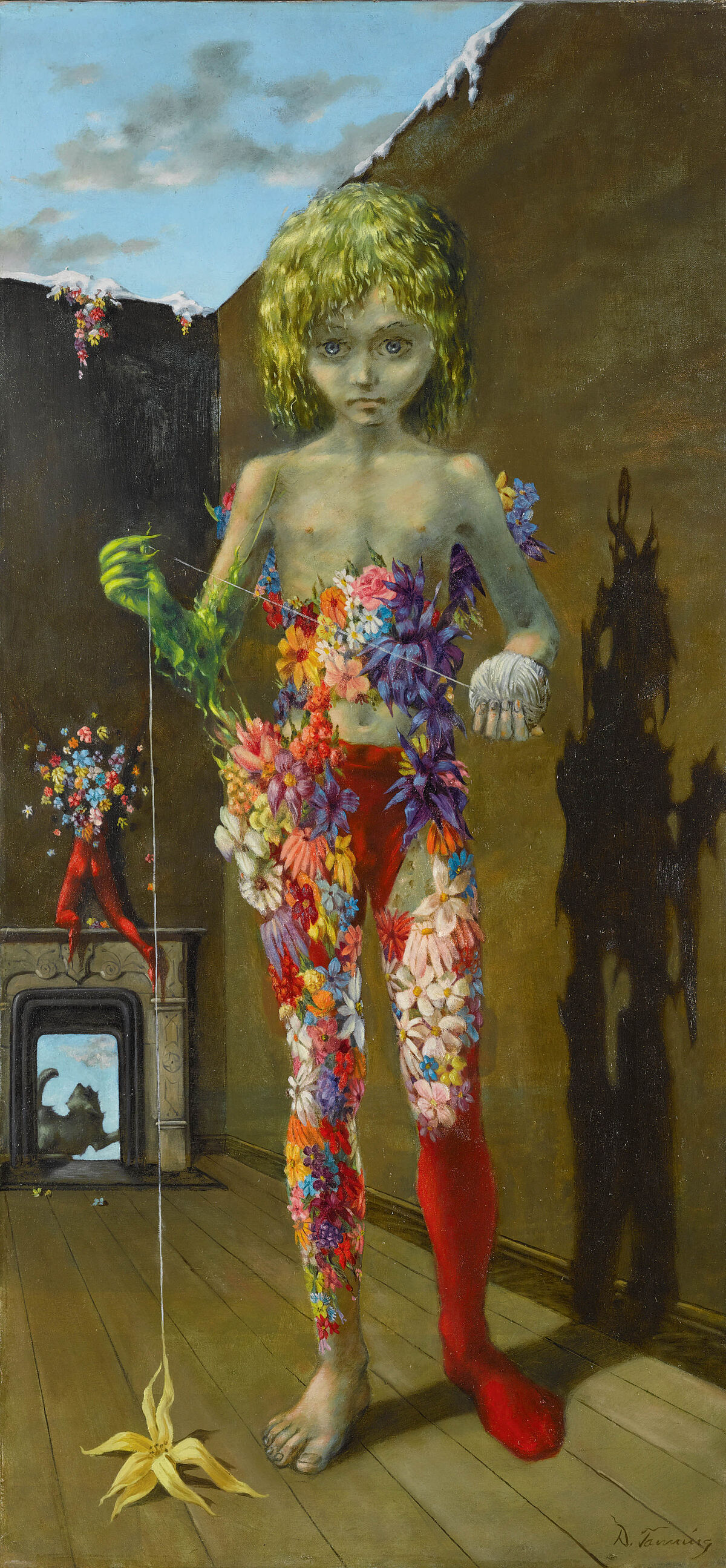 Dorothea Tanning, The Magic Flower Game, 1941. © DACS, 2018. Courtesy of Tate Modern.