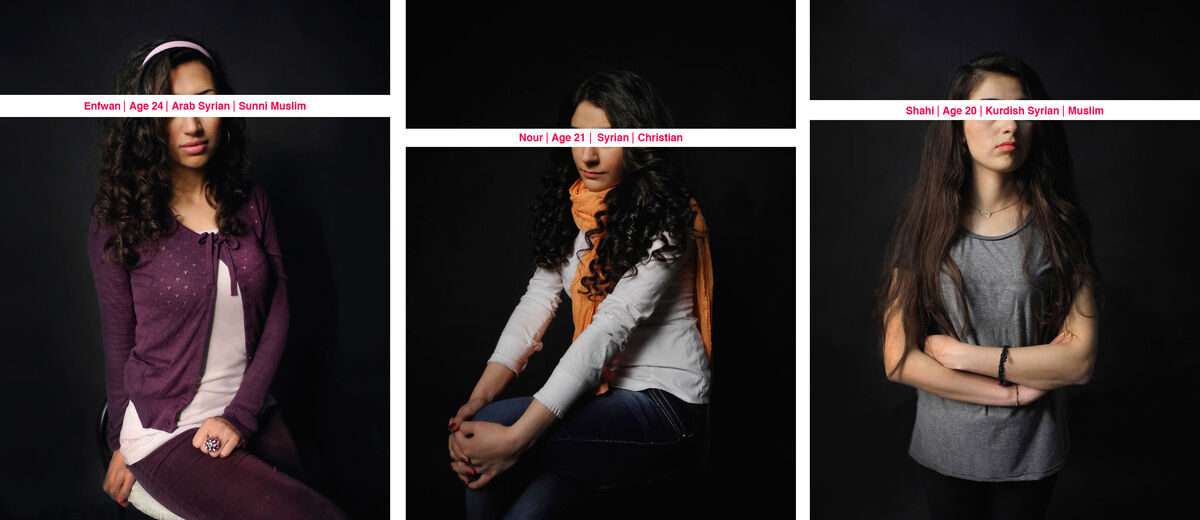 """Issa Touma, selection of photographs from""""Women We Have Not Lost Yet,""""2015. Images courtesy of the artist."""