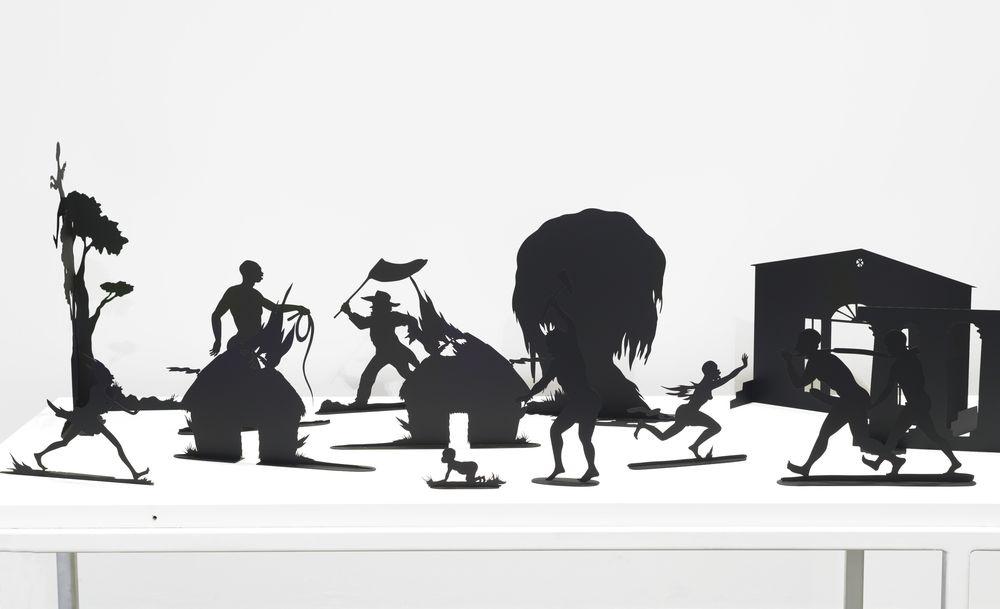 Kara Walker. Burning African Village Play Set with Big House and Lynching (detail), 2006. © Kara Walker. Courtesy of Sikkema Jenkins & Co., New York. Photo: Brooklyn Museum.