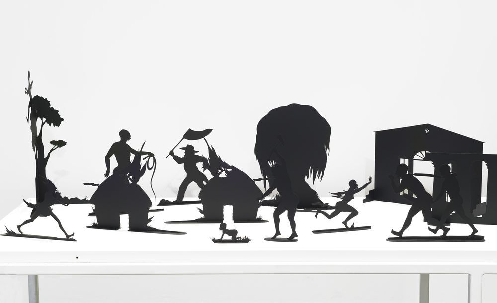 Kara Walker. Burning African Village Play Set with Big House and Lynching (detail), 2006. © Kara Walker. Courtesy of Sikkema Jenkins & Co., New York. Photo: Brooklyn Museum.