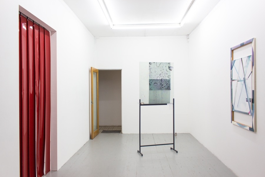 Installation view ofworks byPhilomene Pirecki and Rachal Bradley in Condo atSupplement, London. Courtesy of the artists and Supplement.