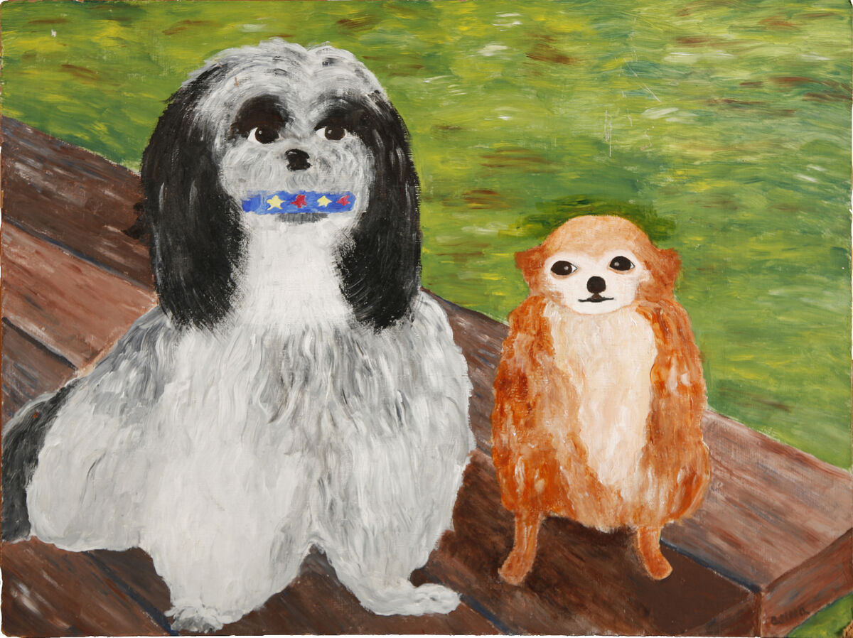 Anonymous, Charlie and Sheba. Courtesy of the Museum Of Bad Art.