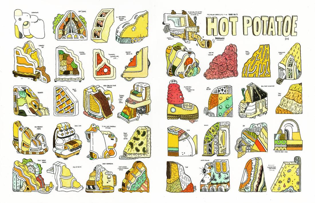 Marc Bell, Hot Potatoe © Adam Baumgold Gallery.