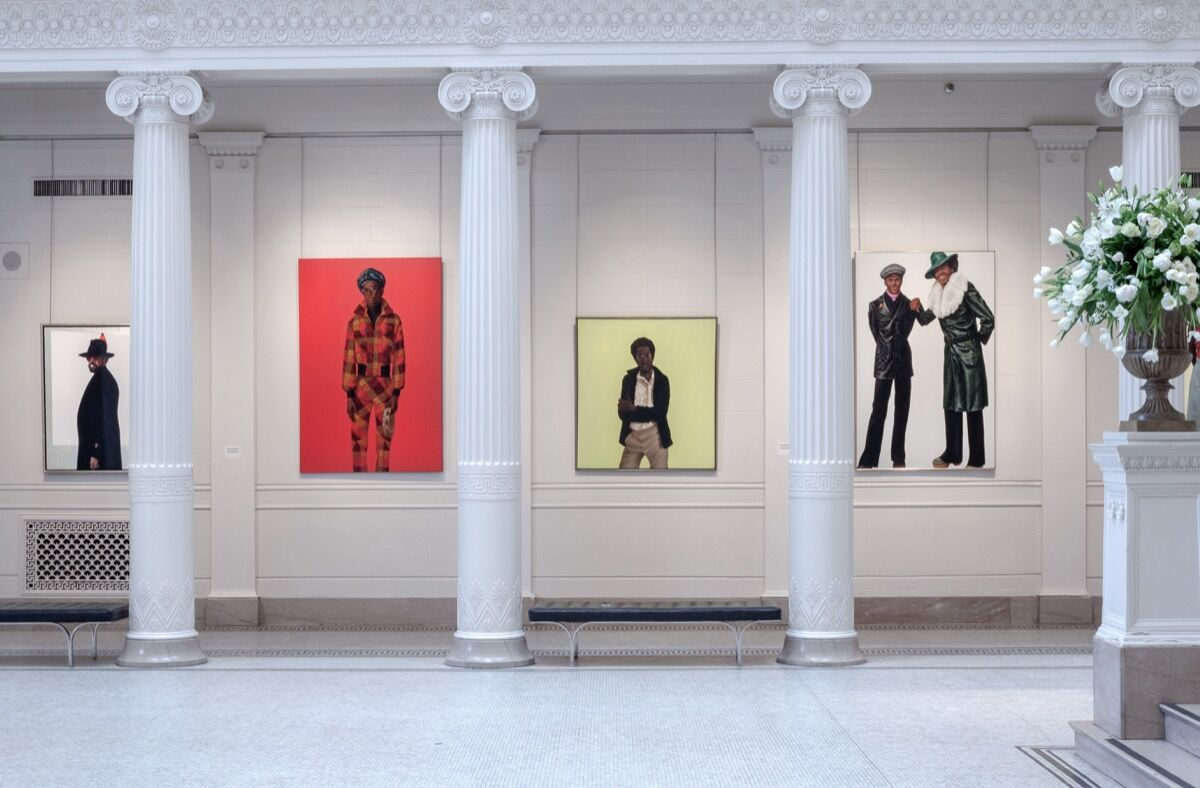 Installation view of Barkley Hendricks at the New Orleans Museum of Art. © Mike Smith. Courtesy of Prospect.4 New Orleans.