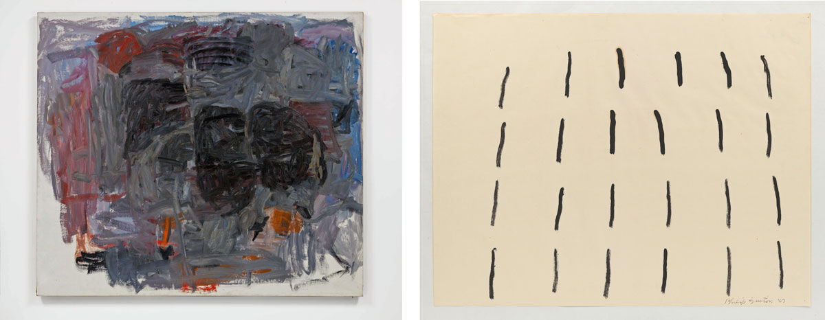 Left: Philip Guston, Accord I, 1962; Right: Philip Guston, Untitled, 1967. Images courtesy of Hauser & Wirth.