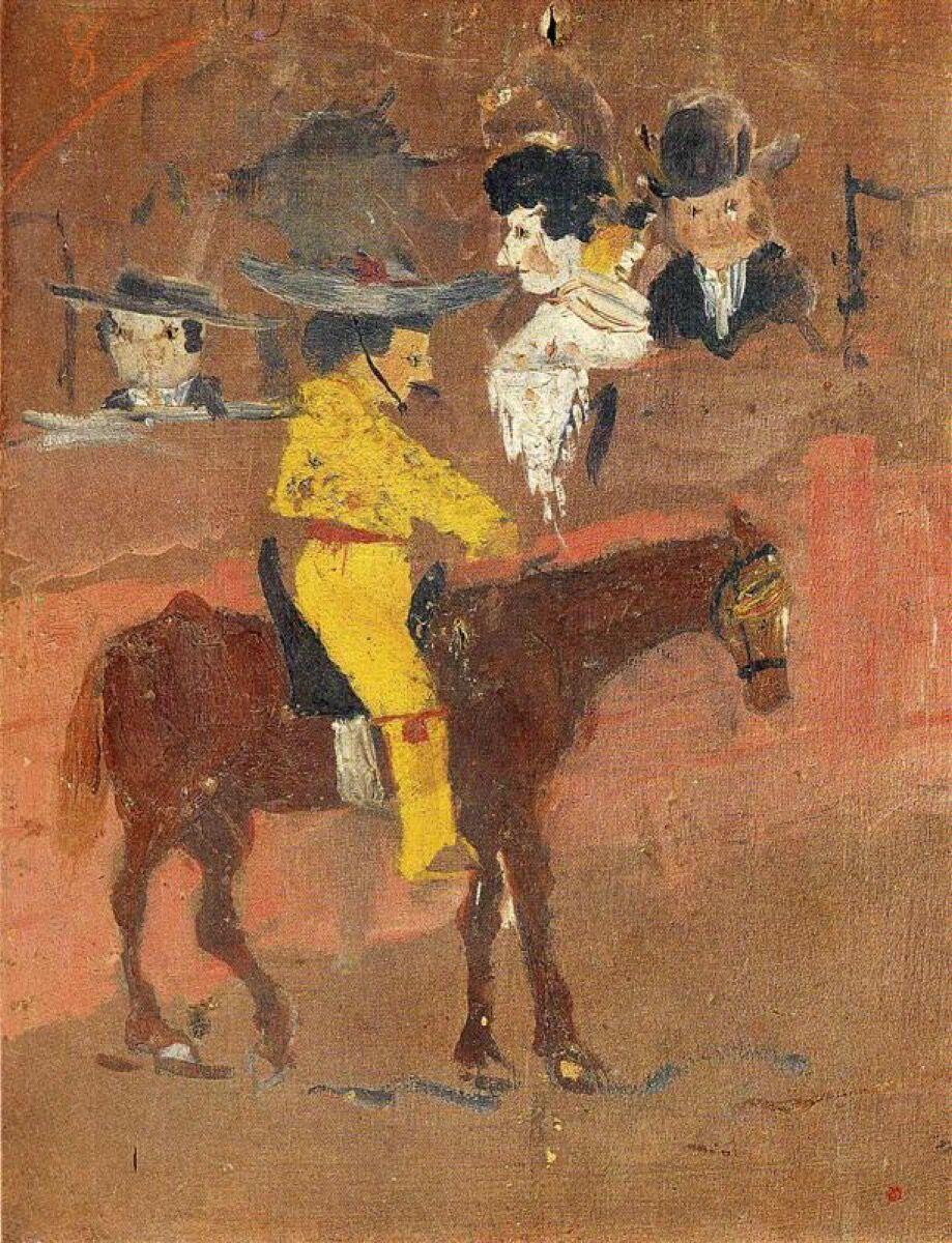 Pablo Picasso, The Picador, 1890. Image via Wikiart.