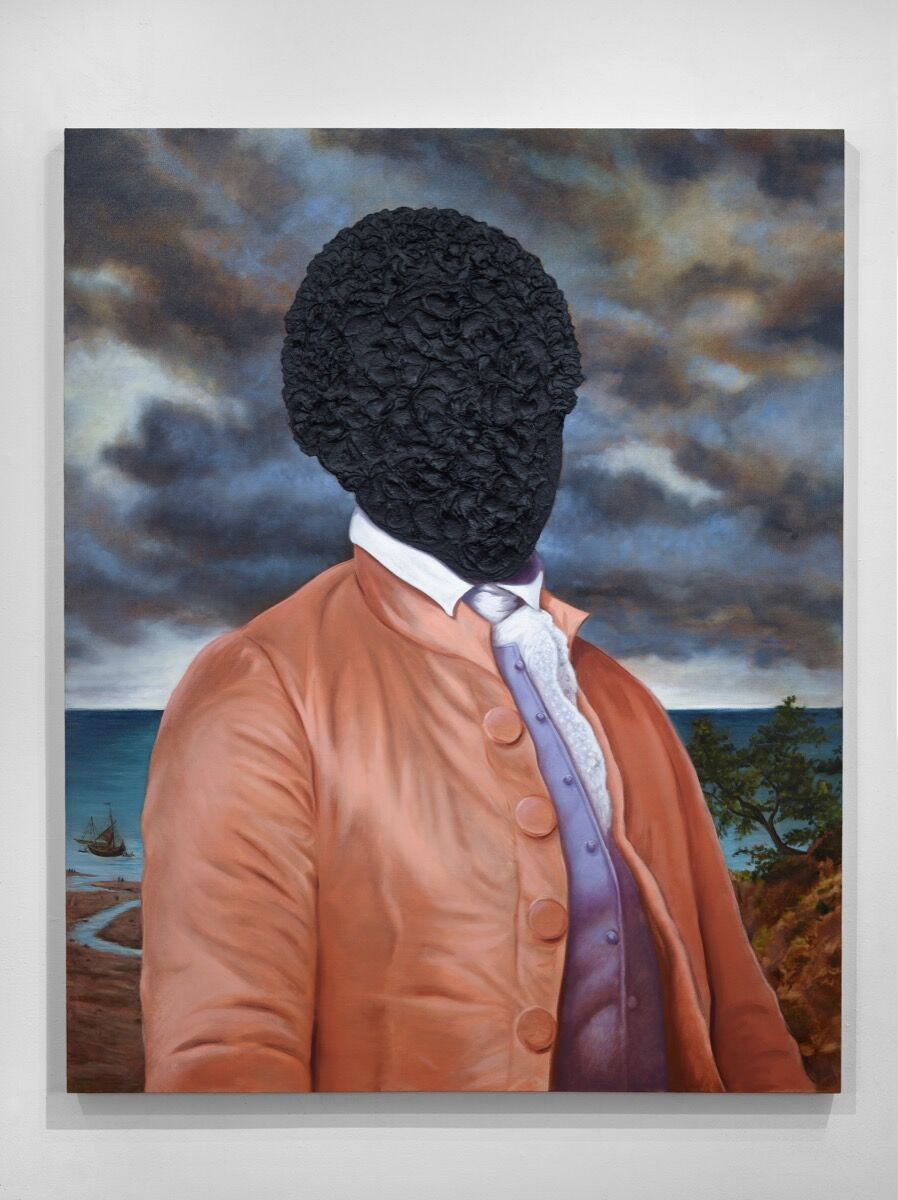 Titus Kaphar, Billy Lee: Portrait in Tar, 2016. © Titus Kaphar. Courtesy of Jack Shainman Gallery, New York.