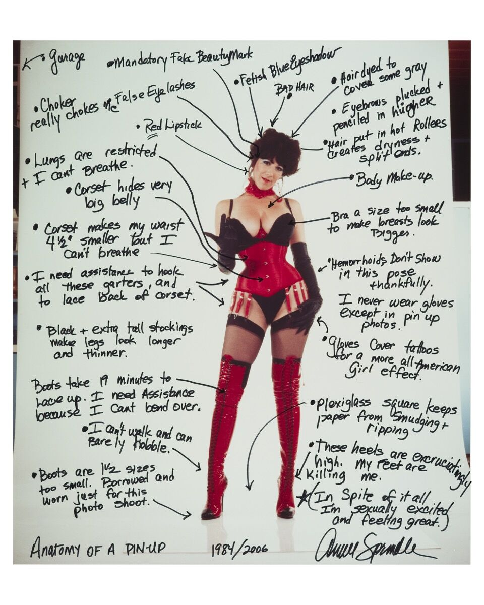 Annie Sprinkle, Anatomy of a 1980's Pin Up, 1984/2006. Courtesy of the artist and Gavin Brown's enterprise, New York / Rome.