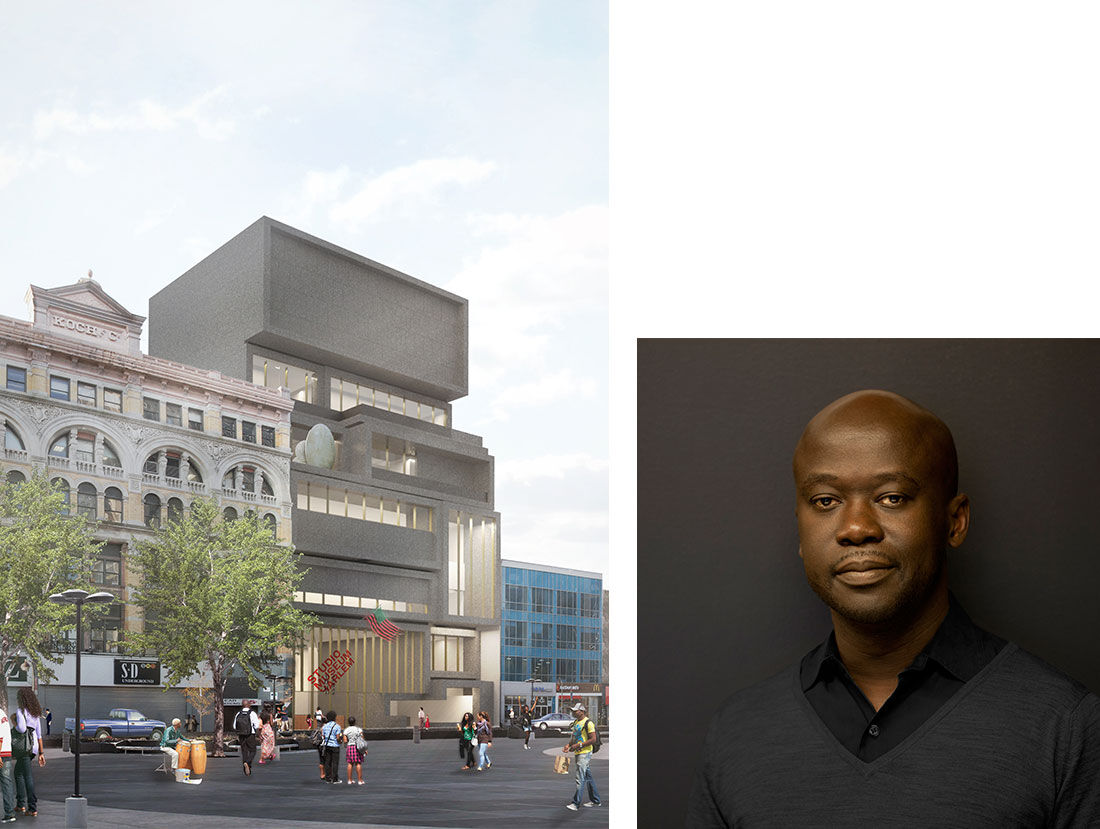 Adjaye Associates, The Studio Museum in Harlem. Portrait of David Adjaye. Photo by Ed Reeve. Courtesy of Adjaye Associates.