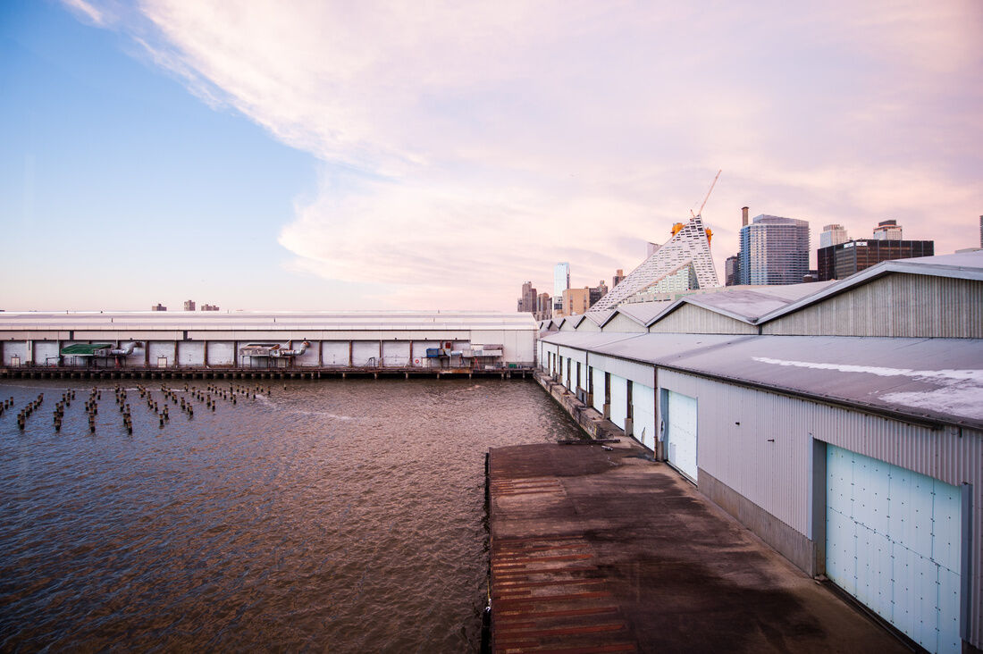 Exterior view of Pier 94 from Pier 92. Photo by BFA, courtesy of The Armory Show 2016.