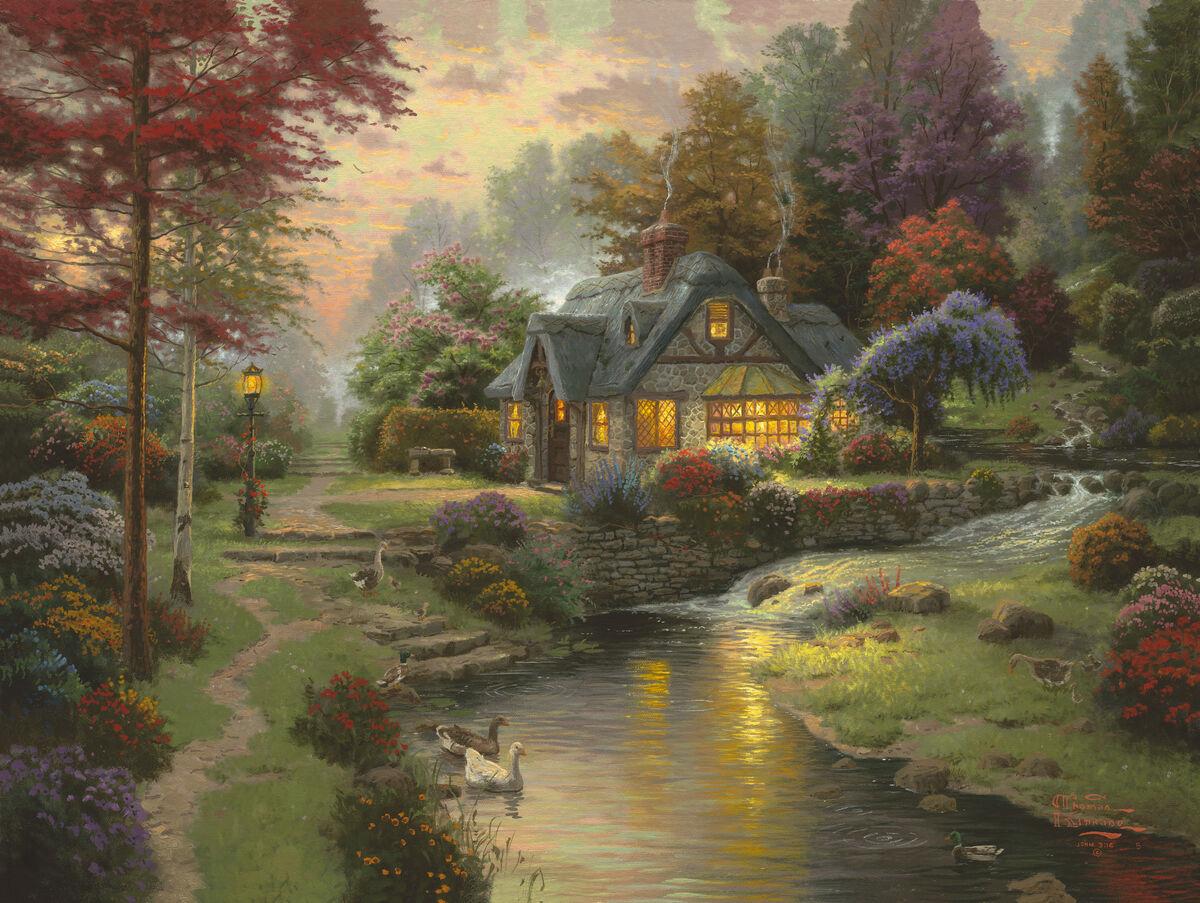 Thomas Kinkade, Stillwater Cottage, 2005. Courtesy of Thomas Kinkade Studios.