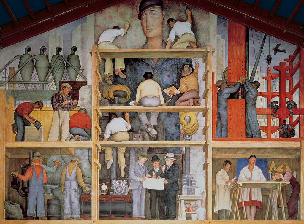 Diego Rivera mural at San Francisco Art Institute. Photo by Joaquín Martínez via Flickr.