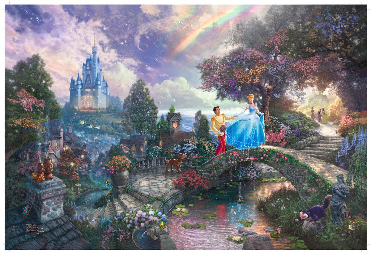 Thomas Kinkade, Cinderella Wishes Upon a Dream, 2009. Courtesy of Thomas Kinkade Studios.