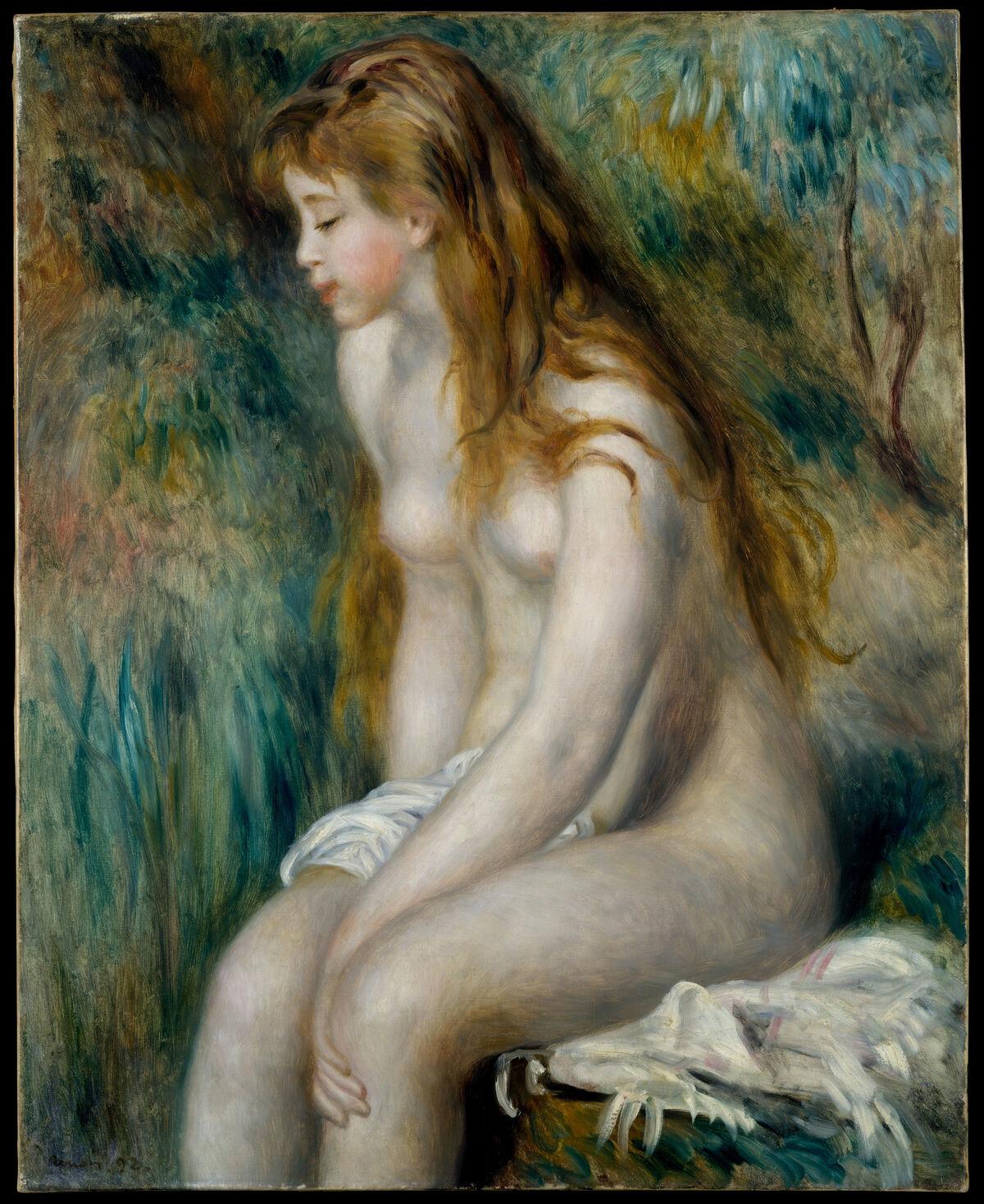 Pierre-Auguste Renoir, Young Girl Bathing, 1892. New York, The Metropolitan Museum of Art, Robert Lehman Collection, 1975 (1975.1.199). © New York, The Metropolitan Museum of Art. Courtesy of Musée Marmottan Monet.