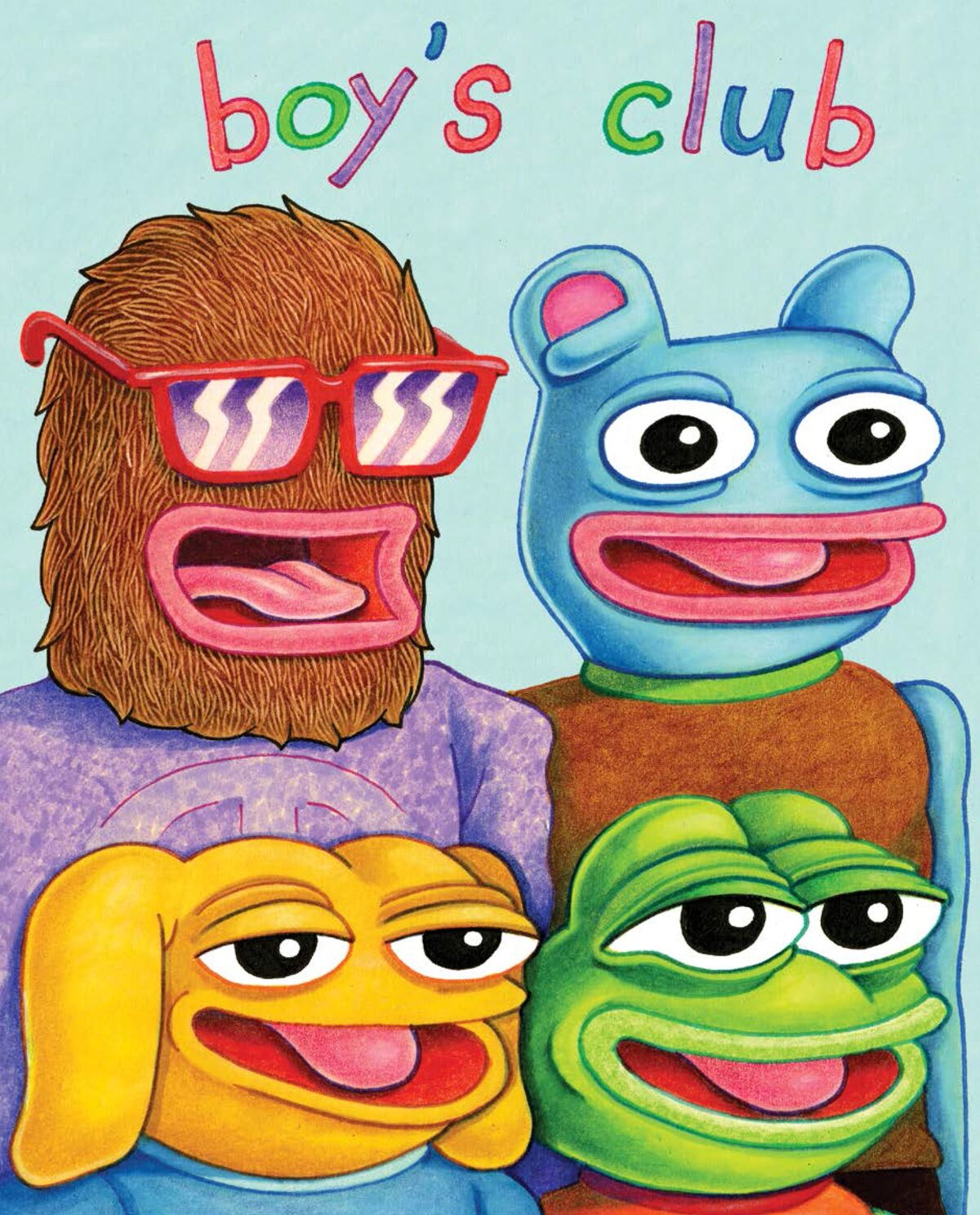 Matt Furie, Boy's Club, 2005. Image courtesy of Fantagraphics Books, Inc.