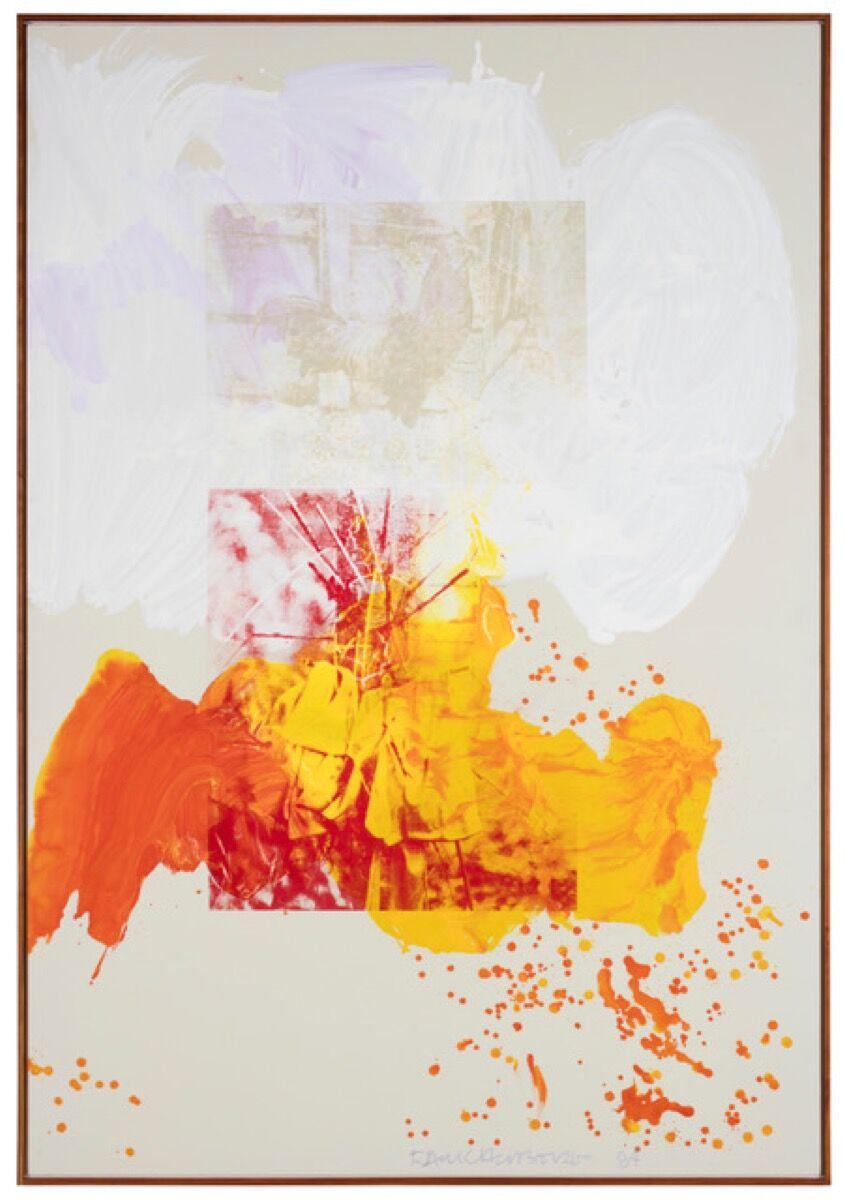 Robert Rauschenberg, Beaker (Salvage), 1984. © Robert Rauschenberg Foundation, VAGA, New York, 2018. Photo by Glenn Steigelman. Courtesy of Galerie Thaddaeus Ropac London, Paris, Salzburg.
