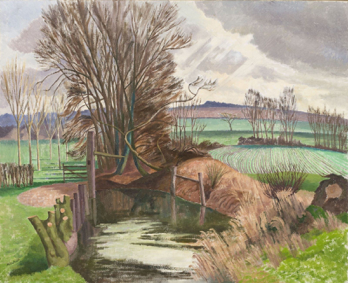 John Nash, Disused Canal, Wormingford, Essex, c.1940s. © The Artists Estate. Towner Collection.
