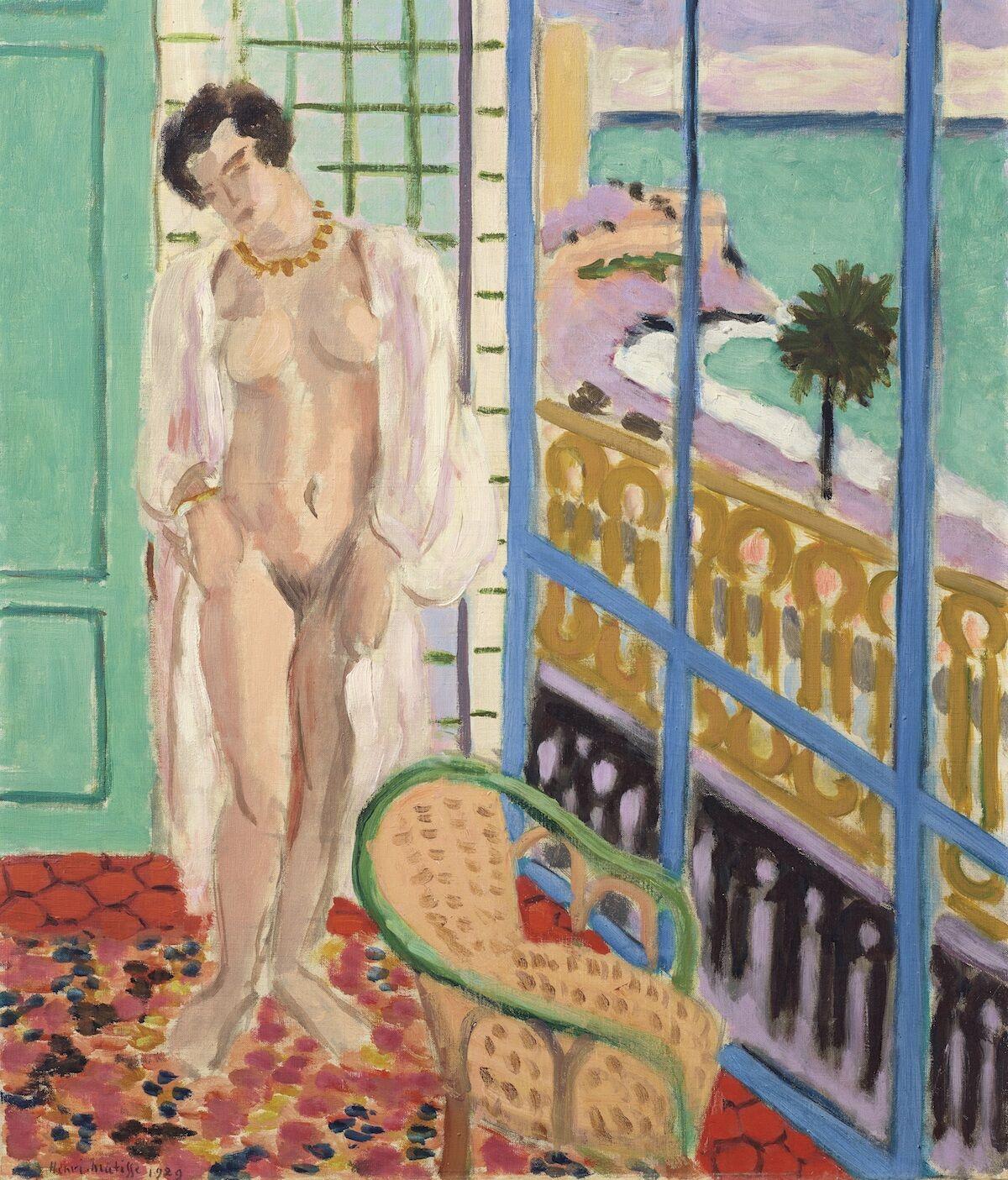 Henri Matisse, Nu à la fenêtre, 1929. Est. $7 million–$10 million. Courtesy Christie's.