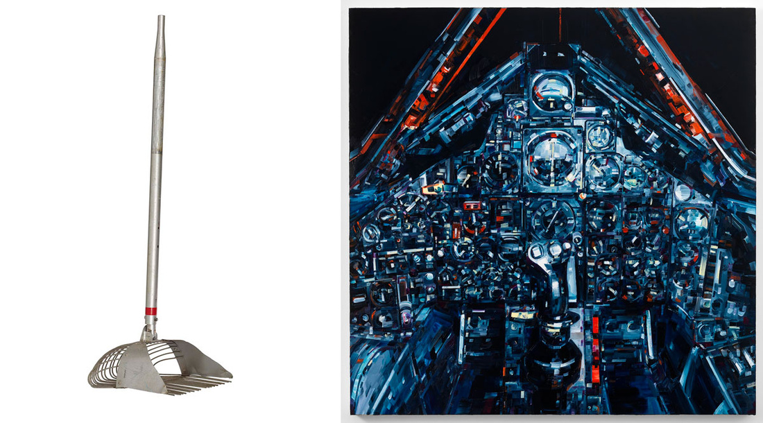 Left: Andrew Zuckerman, Mockup Lunar Rake Used for Training, 1969; Right: Michael Kagain, Blackbird, 2014. Images courtesy of Children's Museum of the Arts.