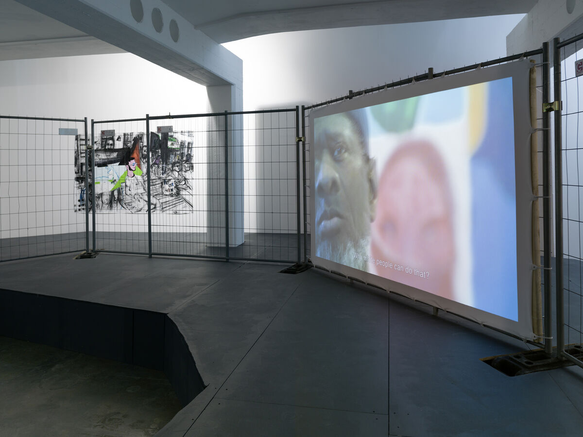 Erik van Lieshout, After the Riot II, 2015. Ausstellungsansicht / Exhibition view Galerie Guido W. Baudach, Berlin. Courtesy Galerie Guido W. Baudach, Berlin. Photo by Roman März.
