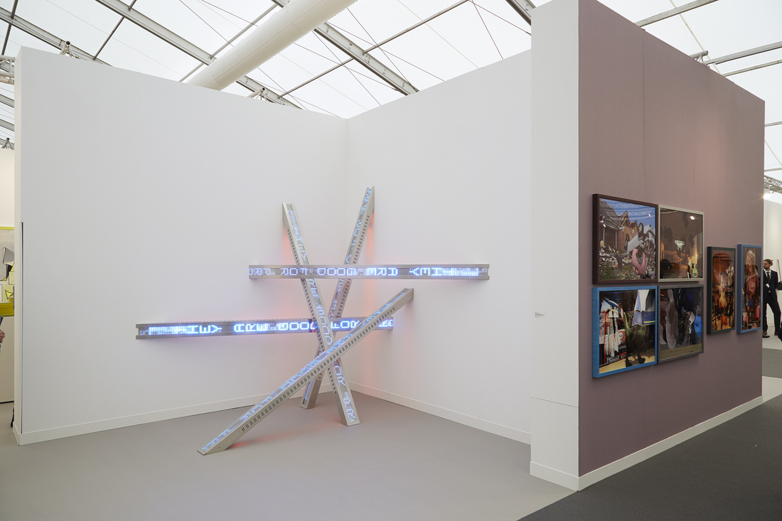 Installation view ofSprüth Magers's booth atFrieze London, 2015. Photo by Benjamin Westoby for Artsy.