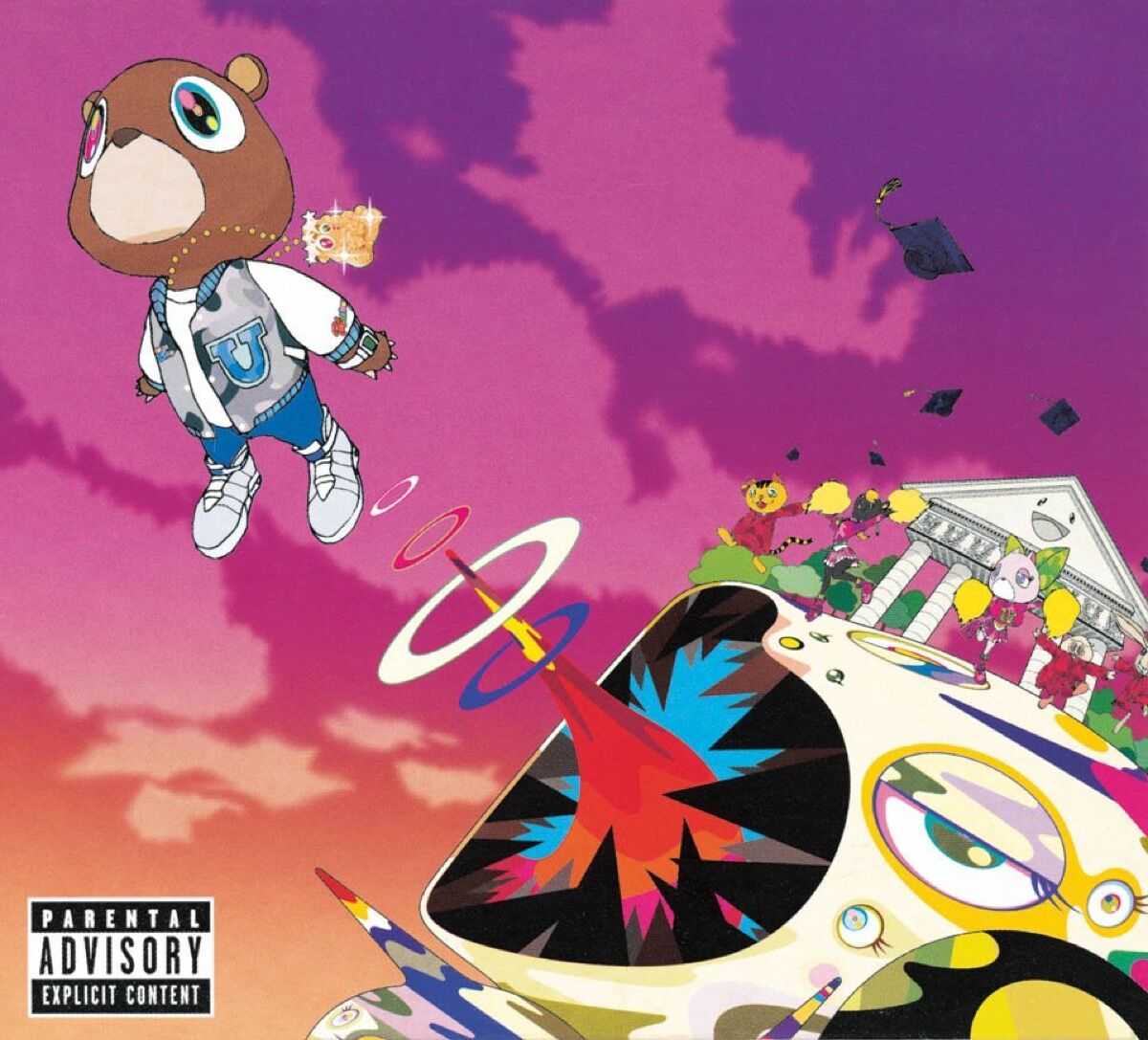 Takashi Murakami's cover for Graduation by Kanye West, 2007. Courtesy of TASCHEN.