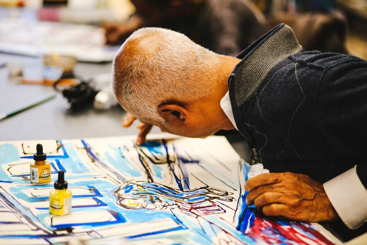 Charles Blackwell at work. Photo: Ali Campbell.