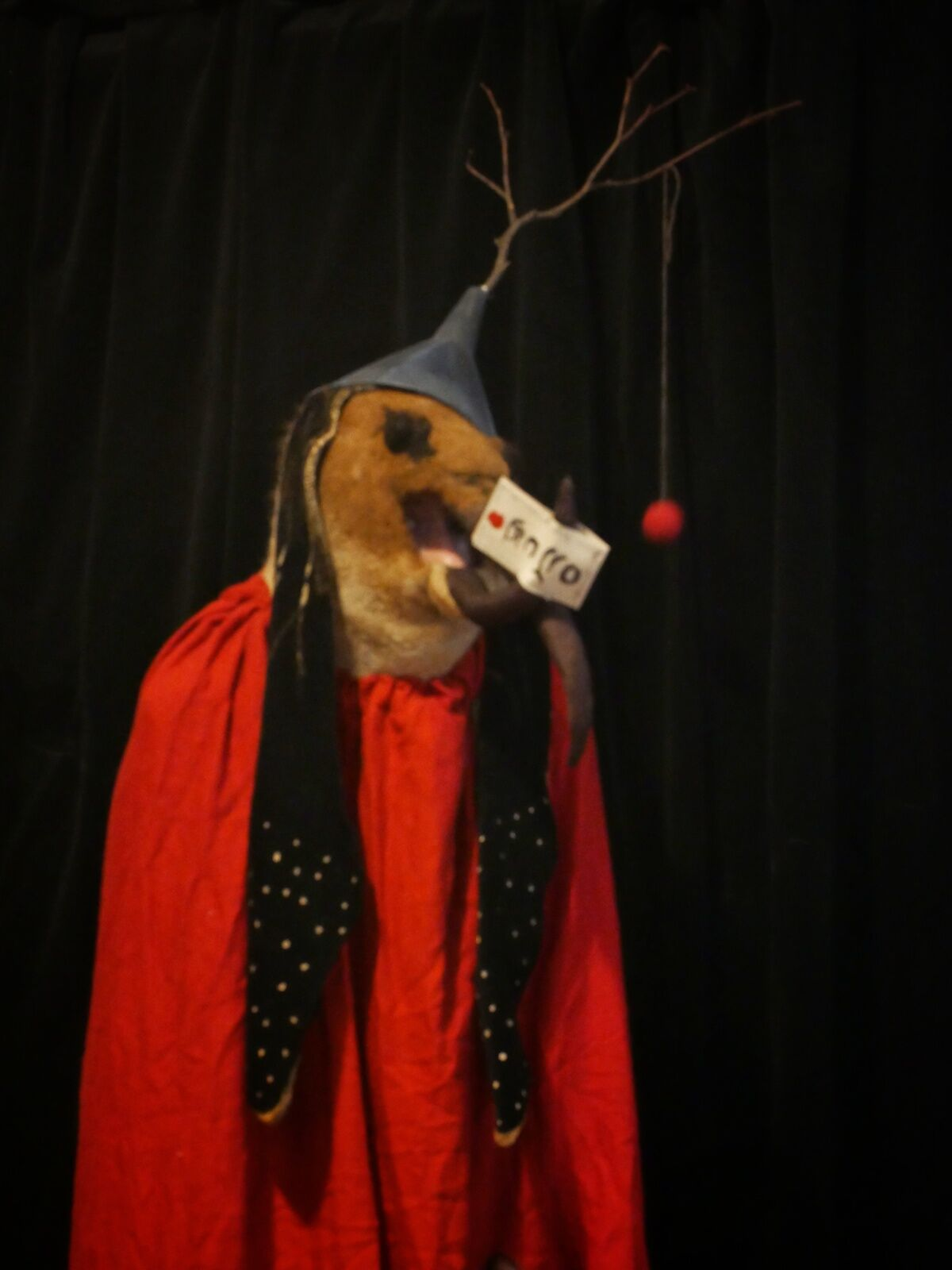 Rae Swon's costume based on one of the creatures in Hieronymus Bosch's Triptych of the Temptation of St. Anthony (1506). Photo courtesy Rae Swon.