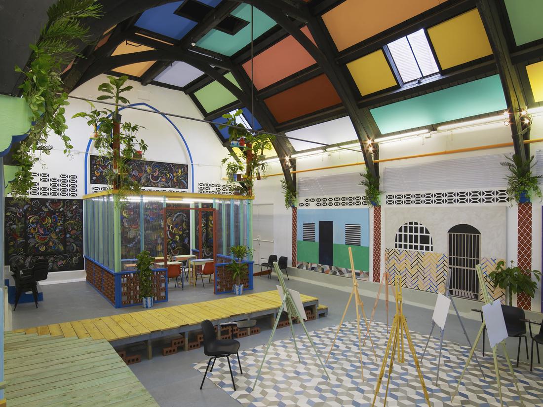 Sol Calero 'La Escuela del Sur,' 2015. A Studio Voltaire commission. Installation view Studio Voltaire, London. Courtesy of the artist and Laura Bartlett Gallery, London. Photo by Andy Keate.
