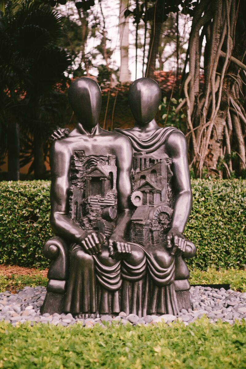 Giorgio de Chirico, Gli Archeologi, 1968  installed at Jorge M. Perez's Miami home. Photo by Gesi Schilling for Artsy.
