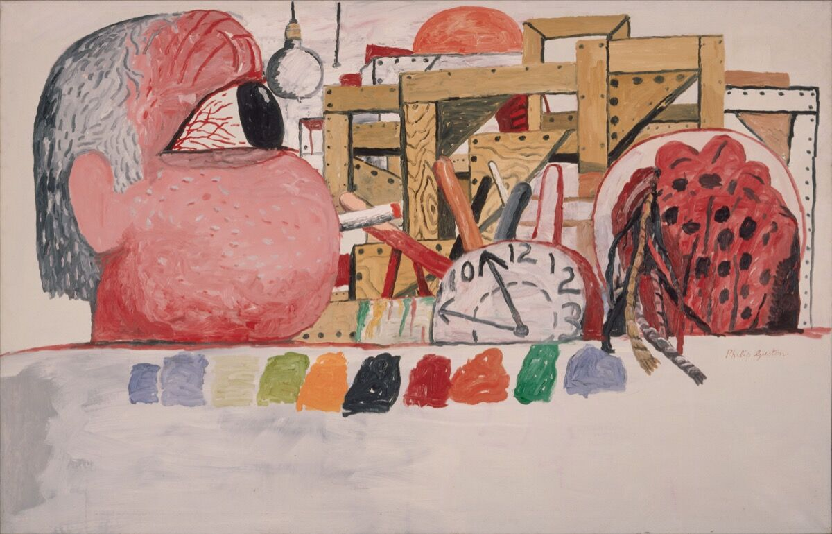 Philip Guston, Studio Landscape, 1975. © The Estate of Philip Guston. Courtesy of the Estate and Hauser & Wirth.