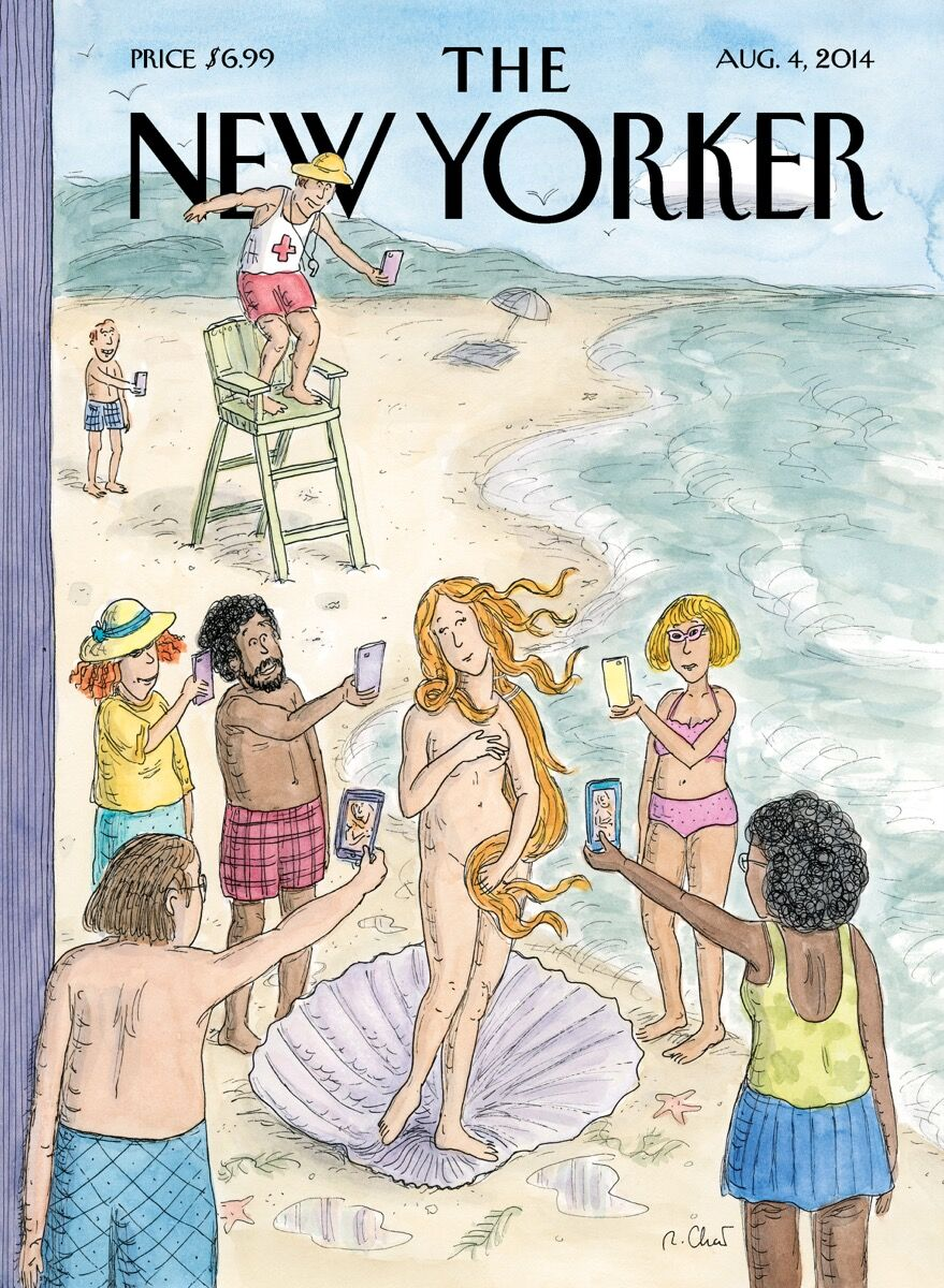 Roz Chast, Venus on the Beach, August 4, 2014. © Roz Chast and The New Yorker. Courtesy of The New Yorker.