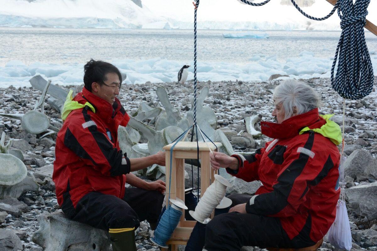 Yasuaki Igarashl. Photo by Sho Hasegawa. Courtesy of Antarctic Biennale.