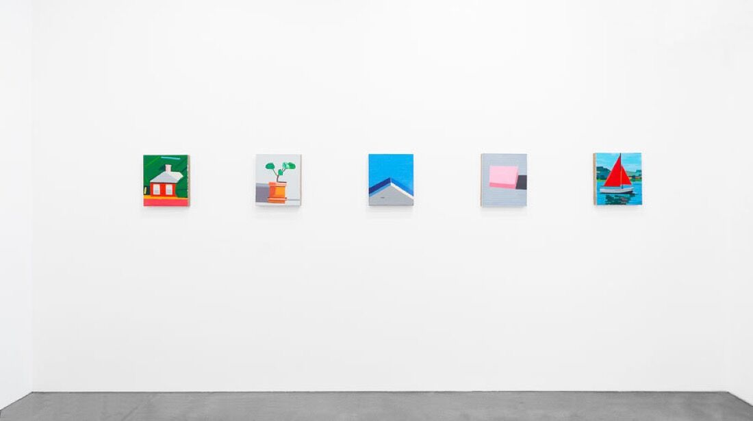 "Installation view of ""Guy Yanai: Ancienne Rive"" courtesy Ameringer 
