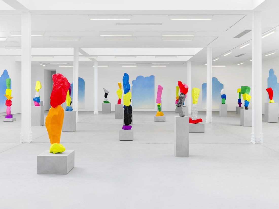"""Installation view, Ugo Rondinone, """"clouds + mountains + waterfalls,"""" Sadie Coles HQ, London, 11 September – 24 October 2015. Copyright the artist, courtesy Sadie Coles HQ, London."""