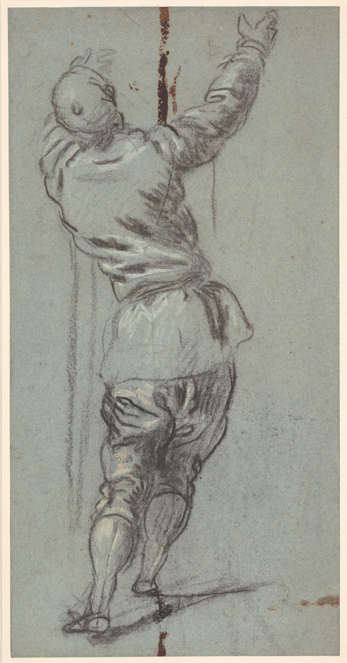 Jacopo Tintoretto, Standing Clothed Man Seen from Behind, c. 1555. © Her Majesty Queen Elizabeth II 2017. Courtesy of the Royal Collection Trust and the National Gallery of Art.