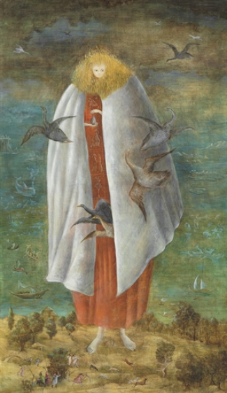 Leonora Carrington, The Giantess (The Guardian of the Egg), 1942. © 2018 Estate of Leonora Carrington / Artists Rights Society (ARS), New York. Courtesy of Christie's.