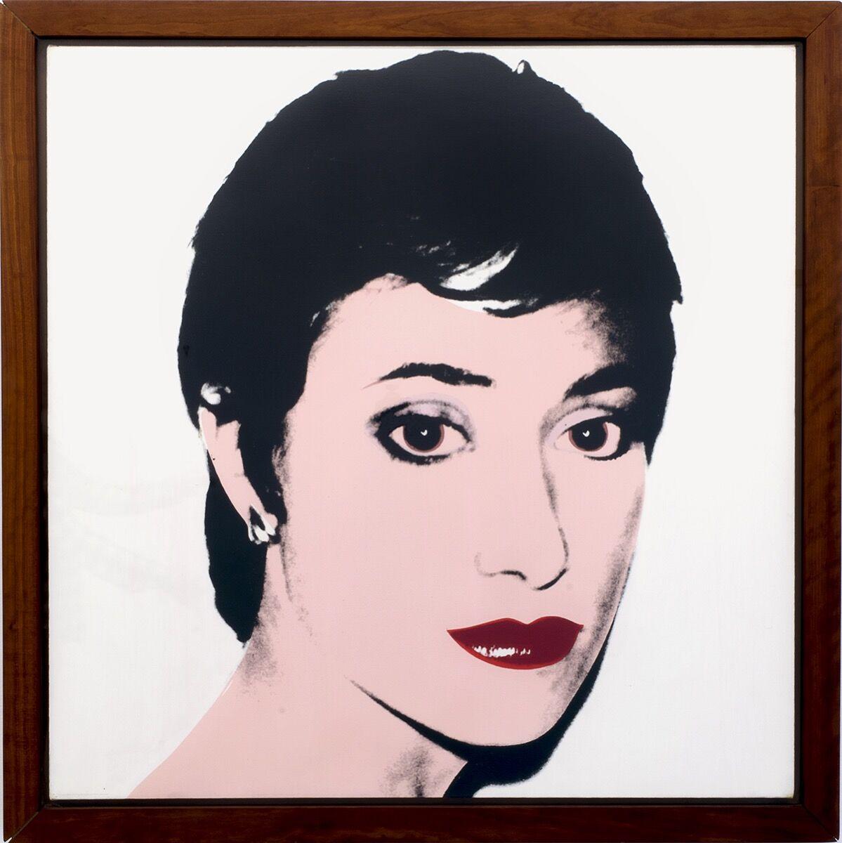 Andy Warhol, Portrait of Helene Verin, 1980. Courtesy of Helene Verin.