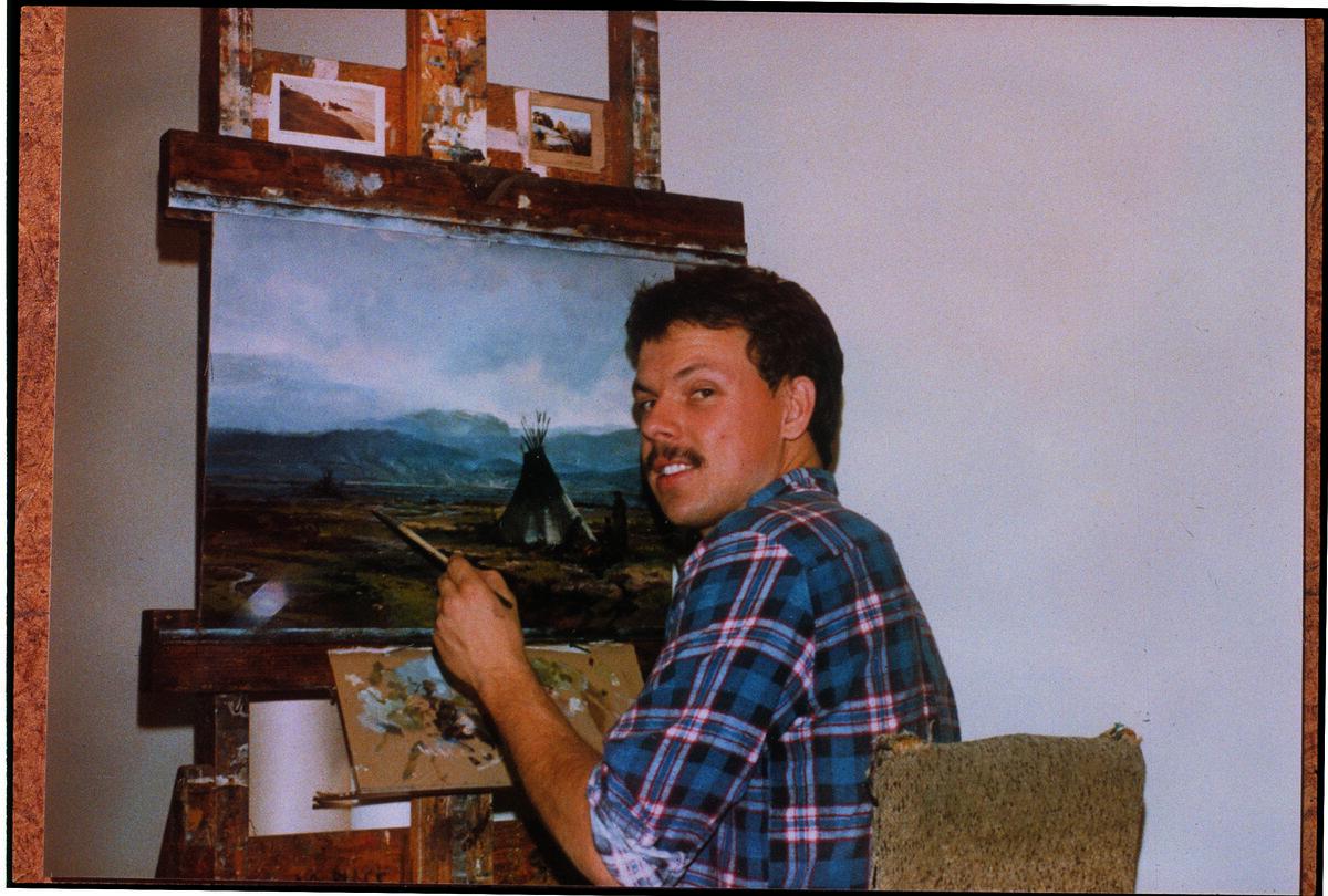 Portrait of Thomas Kinkade, 1983. Courtesy of Thomas Kinkade Studios.