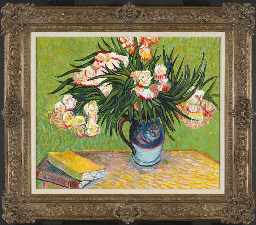 John Myatt's copy of Oleanders, after Vincent Van Gogh, 2012. Courtesy of the Winterthur Museum.