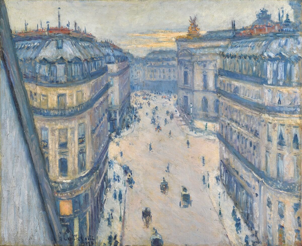 Gustave Caillebotte, La Rue Halévy, Vue Du Sixième Étage, 1878. Courtesy of Sotheby's.
