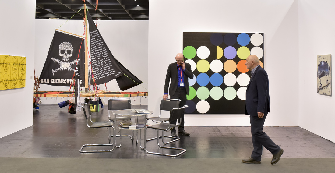 Installation view of Capitain Petzel's booth at Art Cologne, 2016. Photo courtesy of Art Cologne.