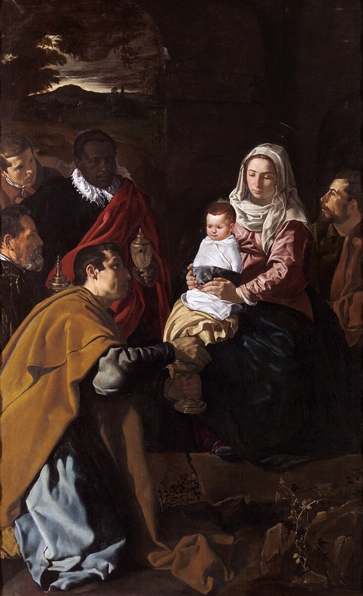 Diego Velázquez, Adoration of the Magi, 1613. Mueso del Prado, Madrid. Photo via Wikimedia Commons.