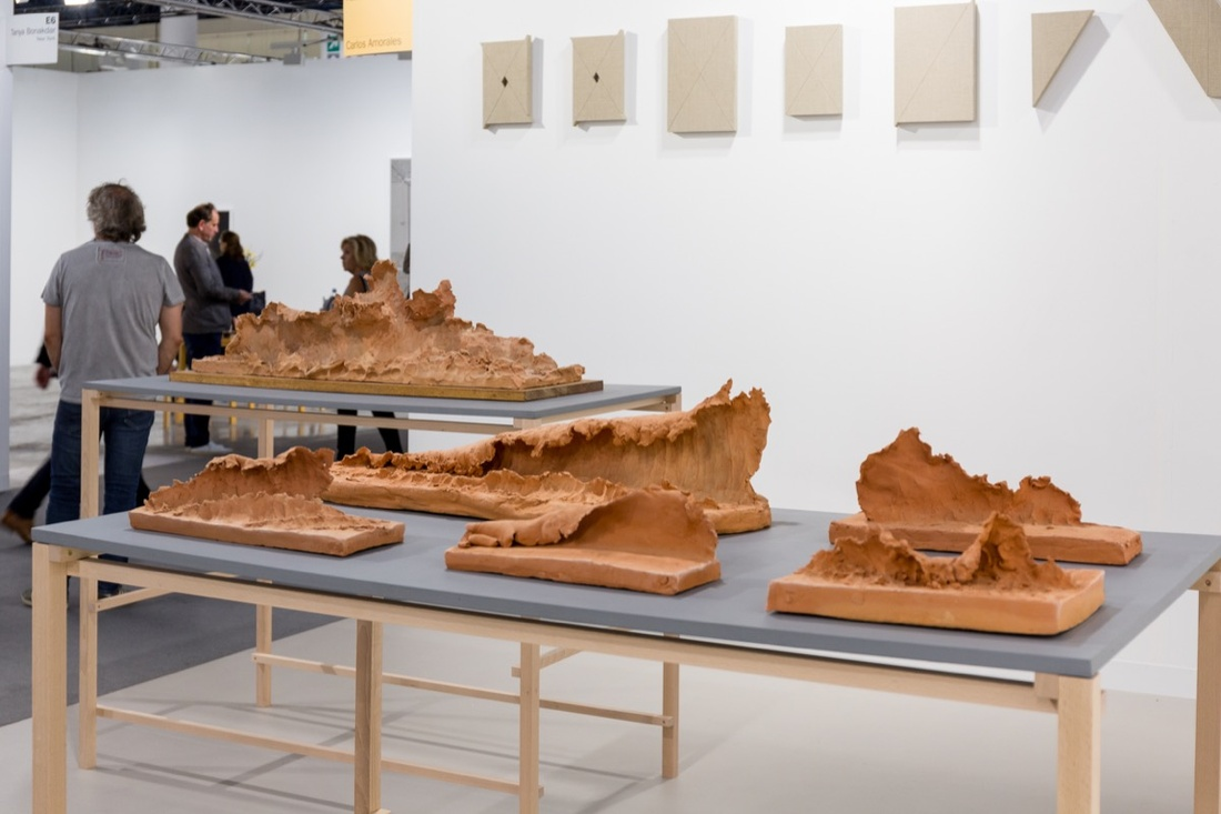 Installation view of work by Damián Ortega at kurimanzutto's booth at Art Basel in Miami Beach, 2016. Photo by Alain Almiñana for Artsy.