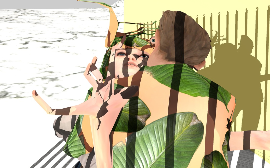 Rachel Rossin, RSNBL-PRSN, Still from VR Installation, 2016. Image courtesy of the artist and SIGNAL.