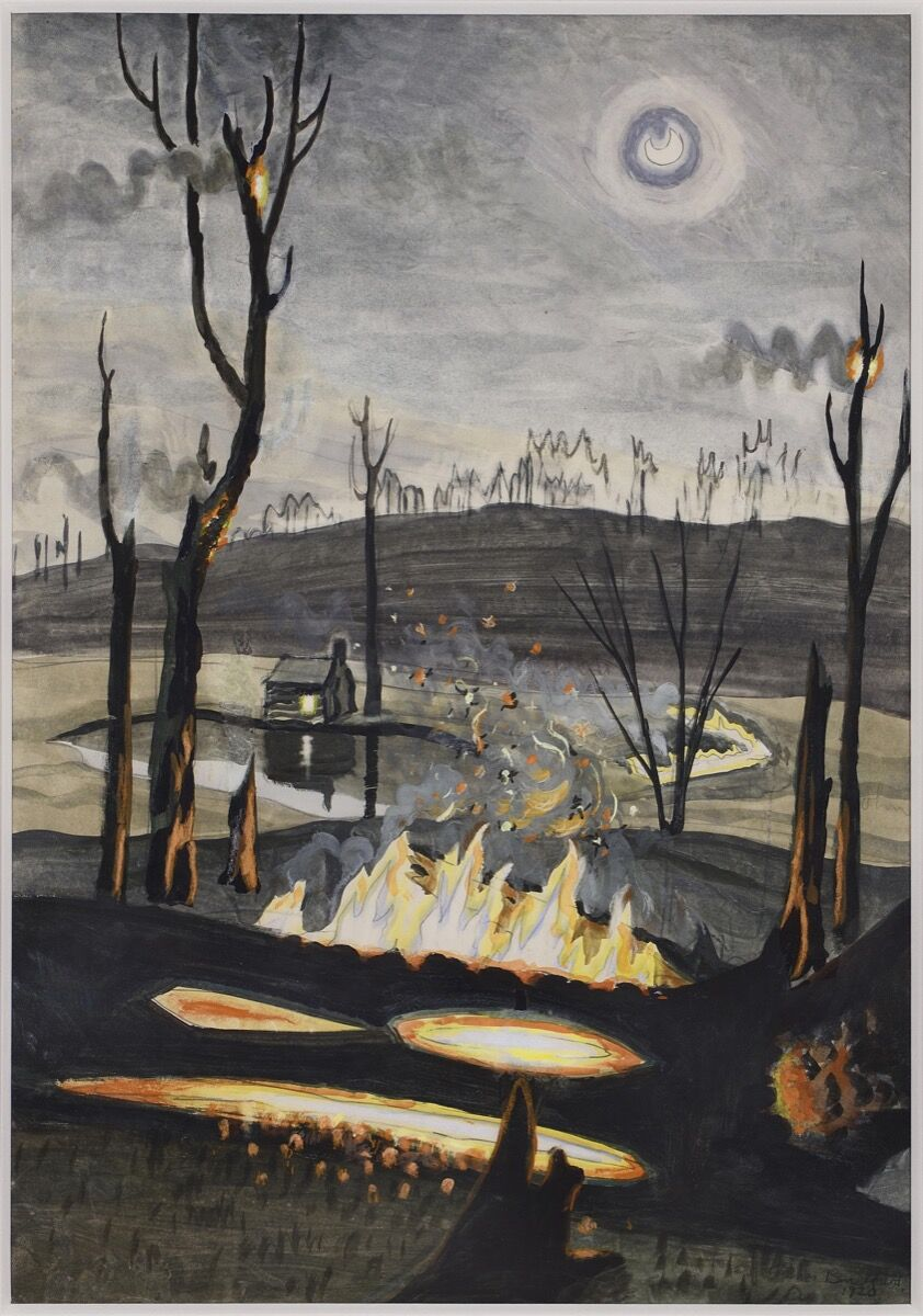 Charles Burchfield, Forest Fire with Moonlight, 1920. Courtesy of Bernard Goldberg.