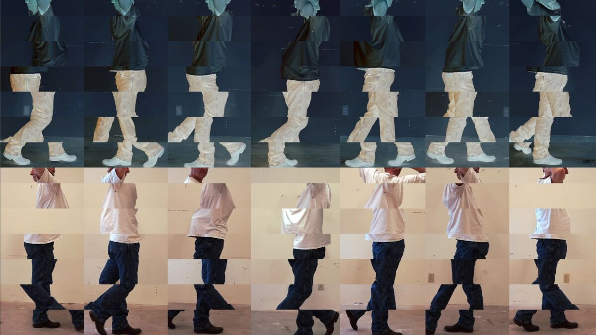 Bruce Nauman, Contrapposto Studies, i through vii, 2015/2016. Courtesy of the artist and Sperone Westwater, New York