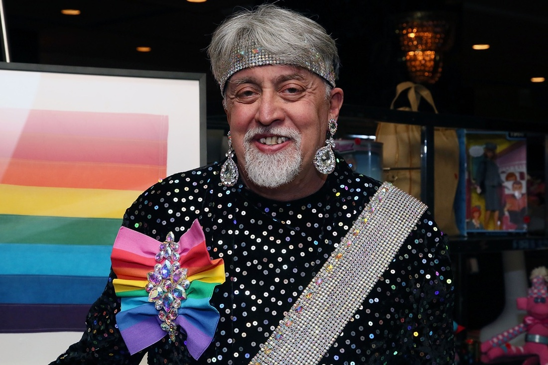 Gilbert Baker, creator of the rainbow flag attends the 27th Annual Night Of A Thousand Gowns at the Hilton New York on April 6, 2013 in New York City. (Photo by Astrid Stawiarz/Getty Images)